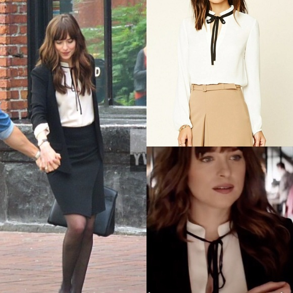 b9f3912c7b56fe Forever 21 Tops - Fifty shades Freed Replica Blouse black ties❤ ❤️
